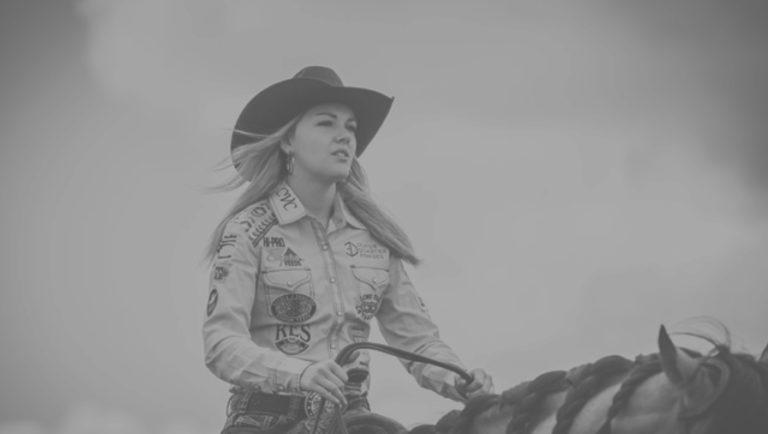 Jackie Ganter on horseback