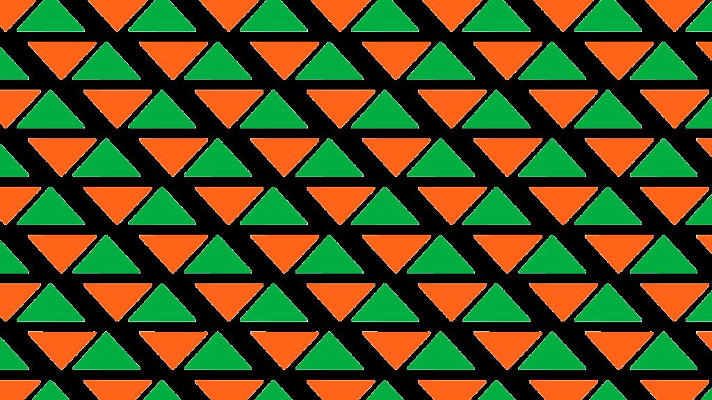 Hi-Pro logo triangles in a pattern