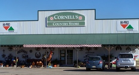 Front of Cornell's Country Store