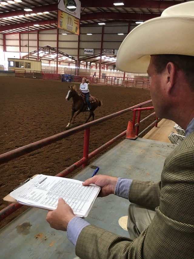 Matt McMillan judges a 4-H rider