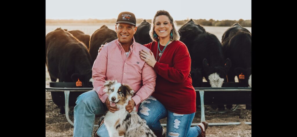 Keith Terry with his wife and dog