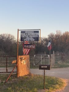 Sign for Keith Terry's Ranch